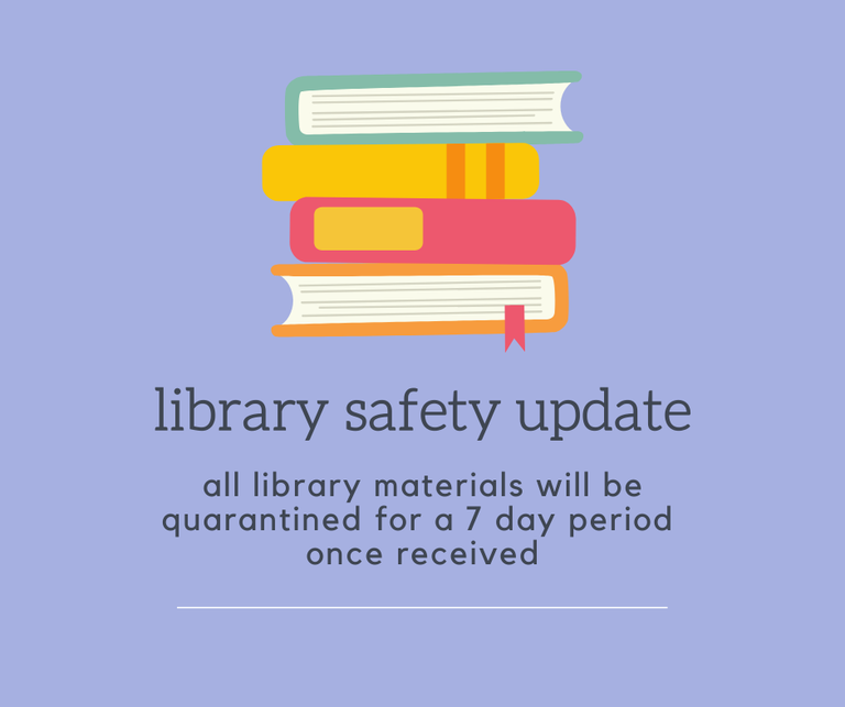 library materials will be quarantined for 7 days once received.png